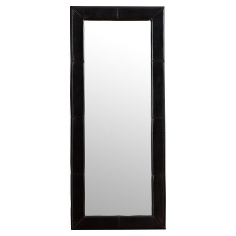 Full Length Leather Leaning Mirror