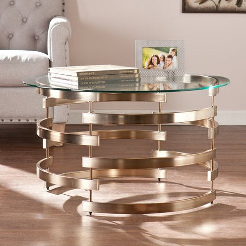 Champagne and Glass Coffee Table