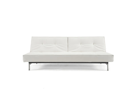 Splitback Luxury Sleeper Sofa Stainless Steel