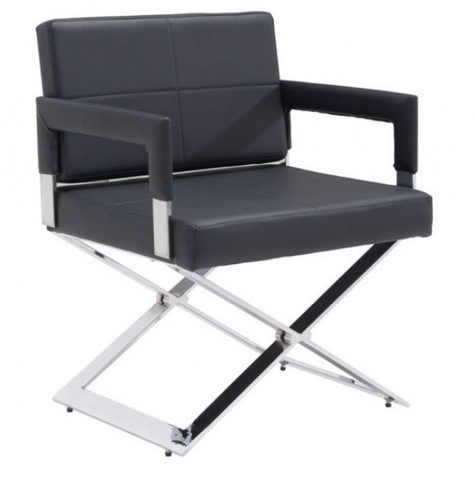 YES Dining Chair in soft leatherette in white or black