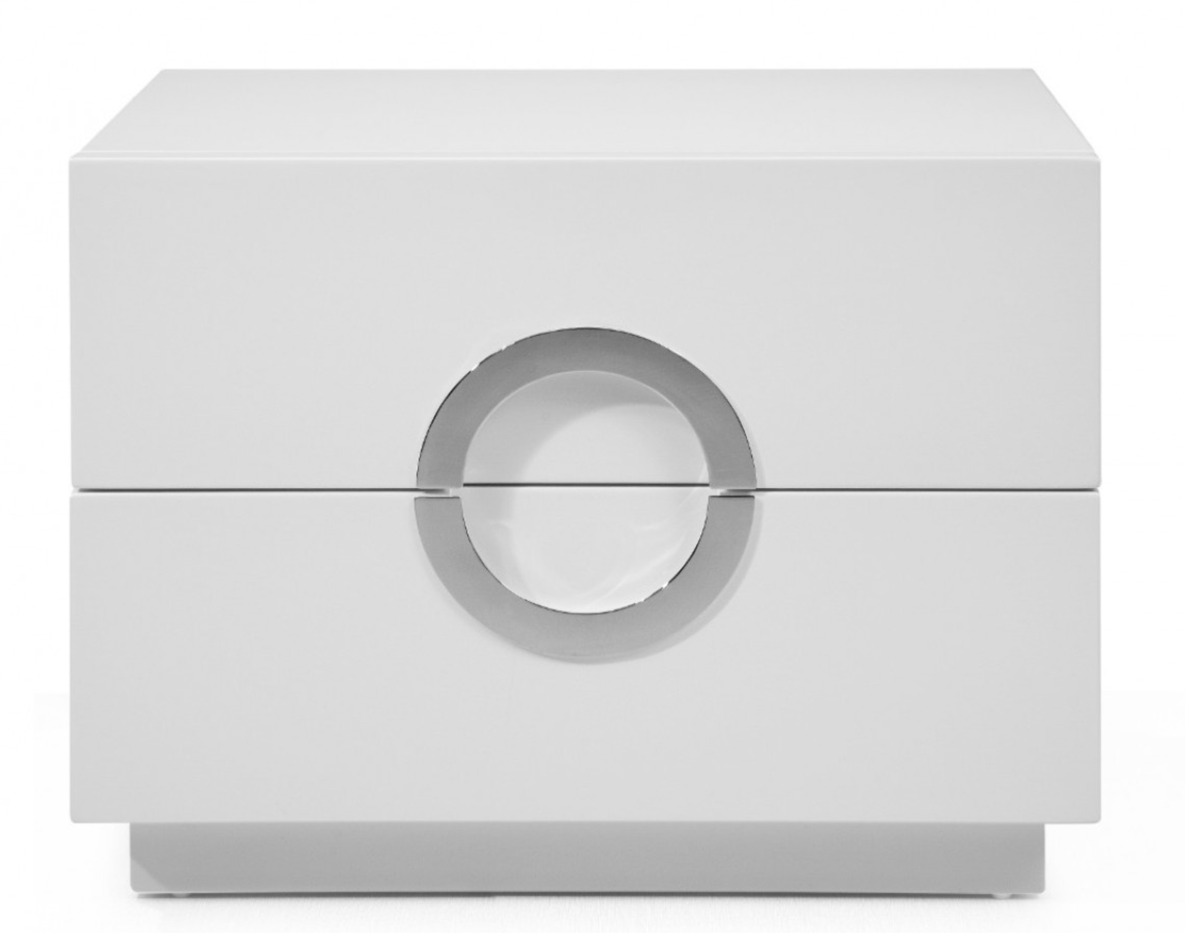 Eddy White Lacquer Nightstand
