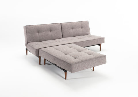 Splitback Luxury Sleeper Sofa Dark Wood