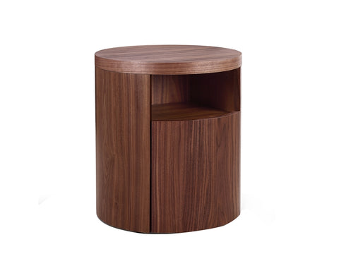 Area Walnut Veneer Nightstand