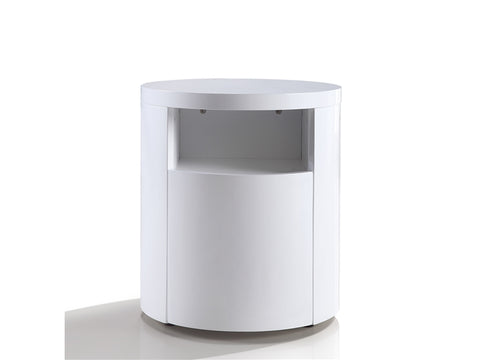 Area White Lacquer Nightstand