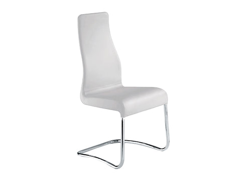 Italian White Leather Dining Chair