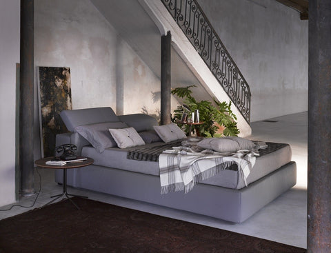Tina Bed - Storage bed - Queen and King size  - white, grey and taupe