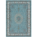 Area Rug 5.2x7.6 teal color - traditional made modern - soft