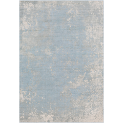 Area Rug - Pale Blue, Grey, Cream