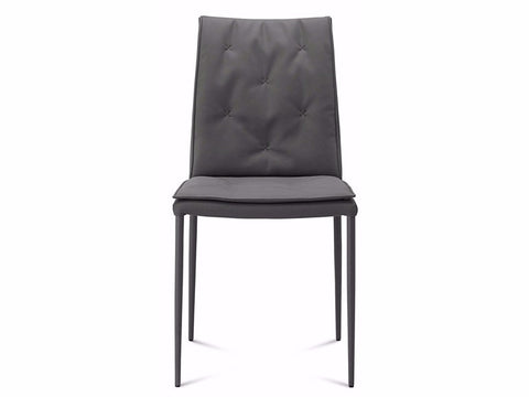 Diva Chair in grey fabric - fully upholstered incl legs