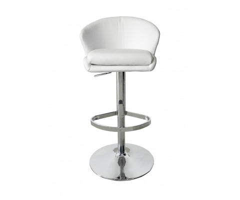 Beverly Adjustable Swivel Barstool in Ecoleather