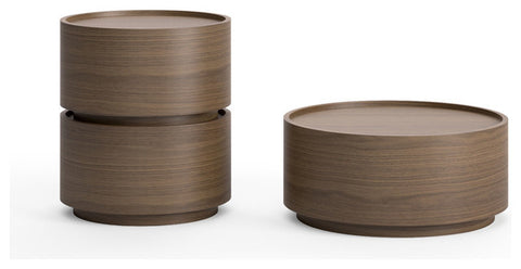 Dedalo Side Table or Night Stand from Pianca - Walnut