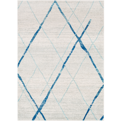 Area Rug in blue with grey 7 x 10'
