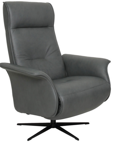 Fjords - FINN - Leather Swivel Motorized Recliner that doesn't look like a Recliner !
