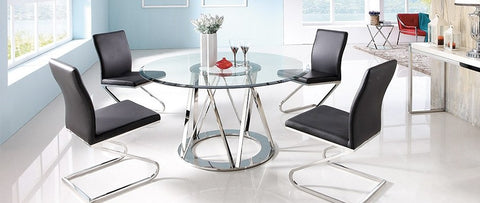 Hanover Glass Round Dining Table