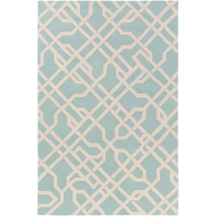 Mint and Ivory Area Rug. MRG6011