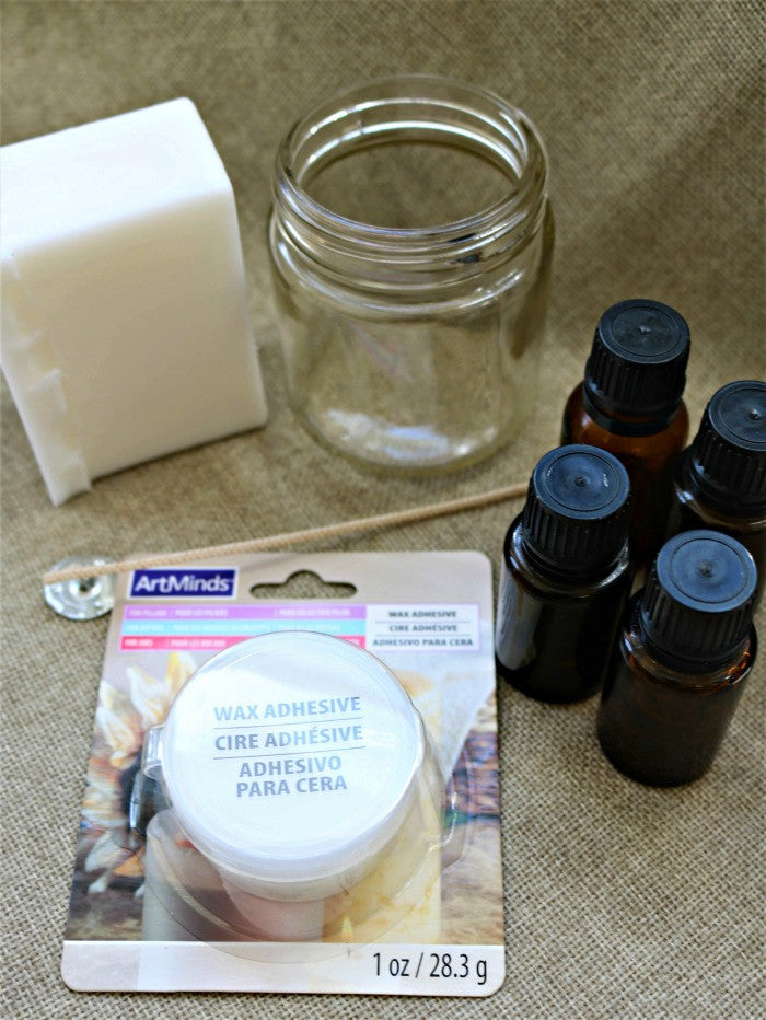 DIY Bug Repellent Candle with Essential Oils from The Oil Collection