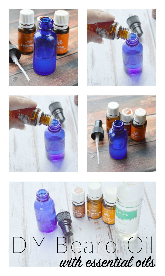 DIY Beard Oil with essential oils from The Oil Collection