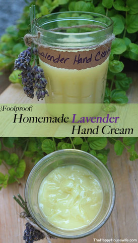 Homemade Lavendaer Hand Cream
