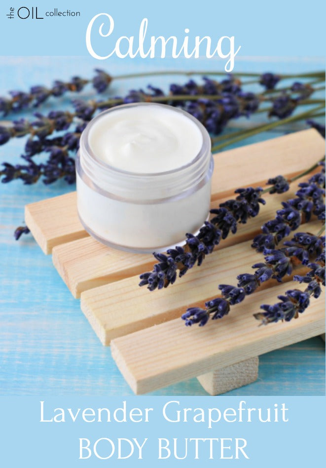 Lavender grapefruit calming body butter, great for the kids before bed, or mom!