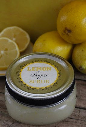 Lemon Sugar Scrub with Printable Gift Label