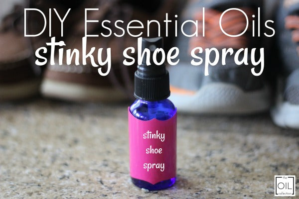 stinky shoe spray made with essential oils