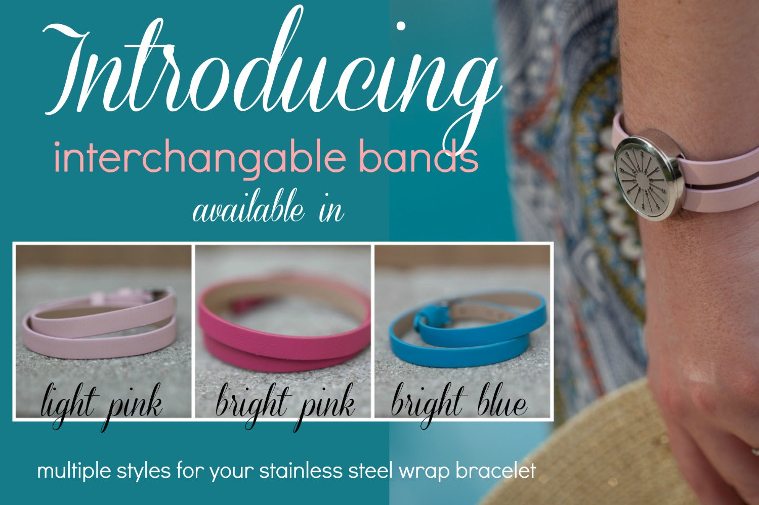 interchangeable bands for diffuser jewelry