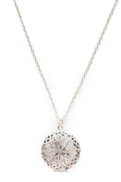 Silver Diffuser Necklace -  - 1
