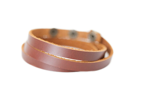 Leather Diffuser Wrap Bracelet
