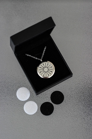 Stainless Steel Diffuser Necklace - Arrow Locket - The Oil Collection - 4
