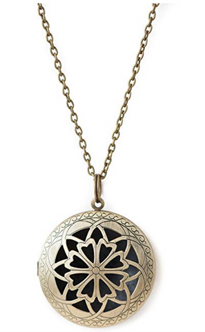 Large Bronze Diffuser Pendant Necklace