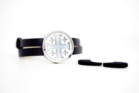 Cross - Diffuser Wrap Bracelet (Stainless Steel) - The Oil Collection - 5