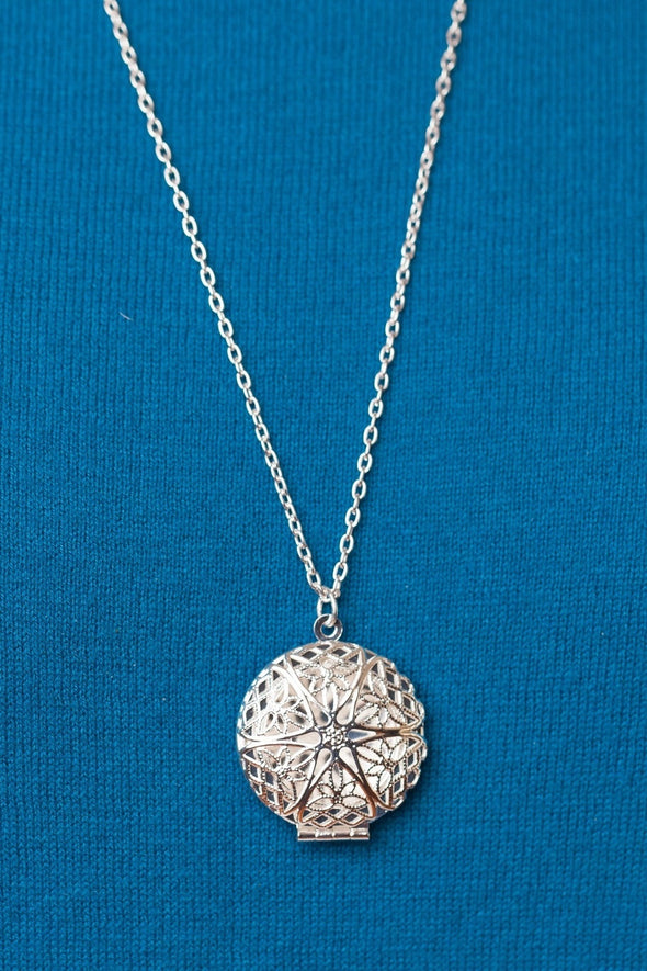 Silver Diffuser Necklace -  - 5
