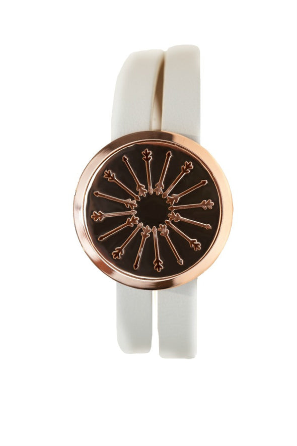 Rose Gold -  Diffuser Wrap Bracelet with Arrow Locket - The Oil Collection - 7