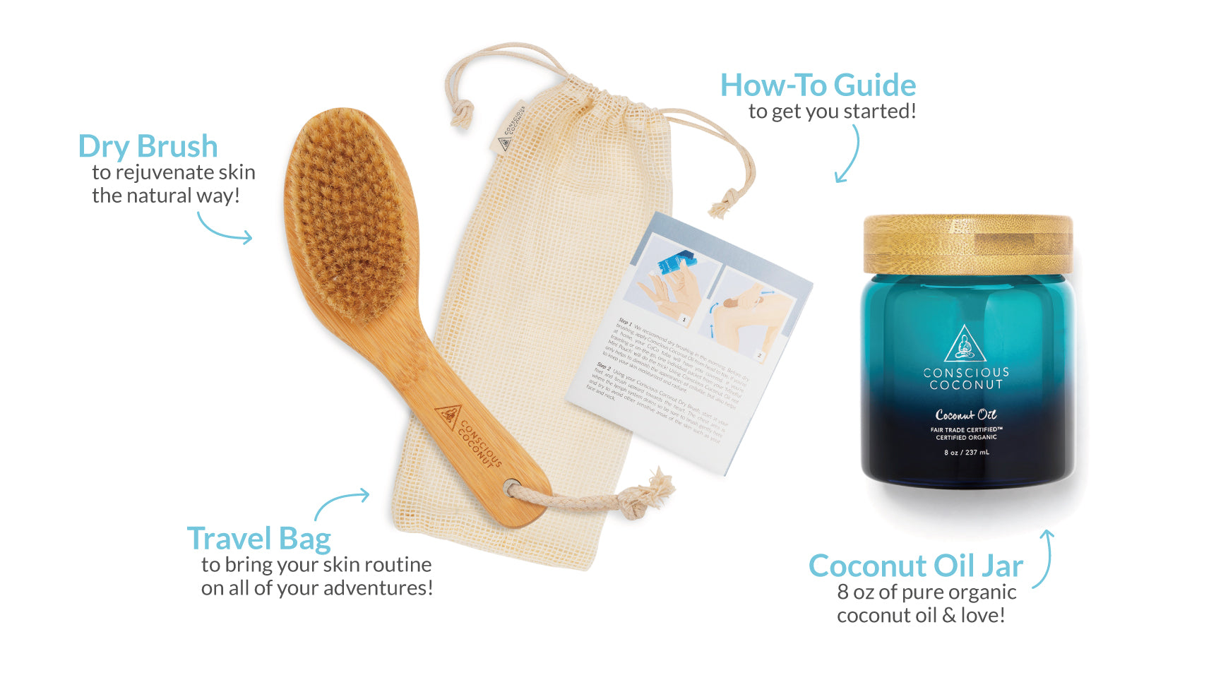 Dry Brush and Coconut Oil Jar