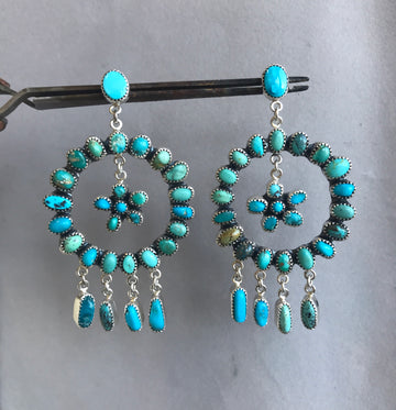 Full Circle Turquoise Earrings