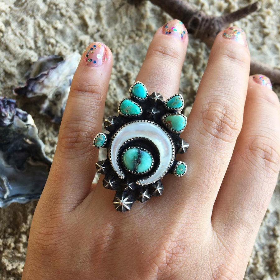 Moon Dancer Turquoise Ring.