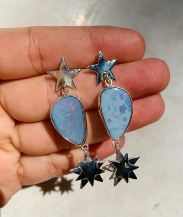 Starburst Opal Earrings