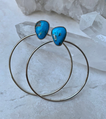 Blue Turquoise Orbit Hoops