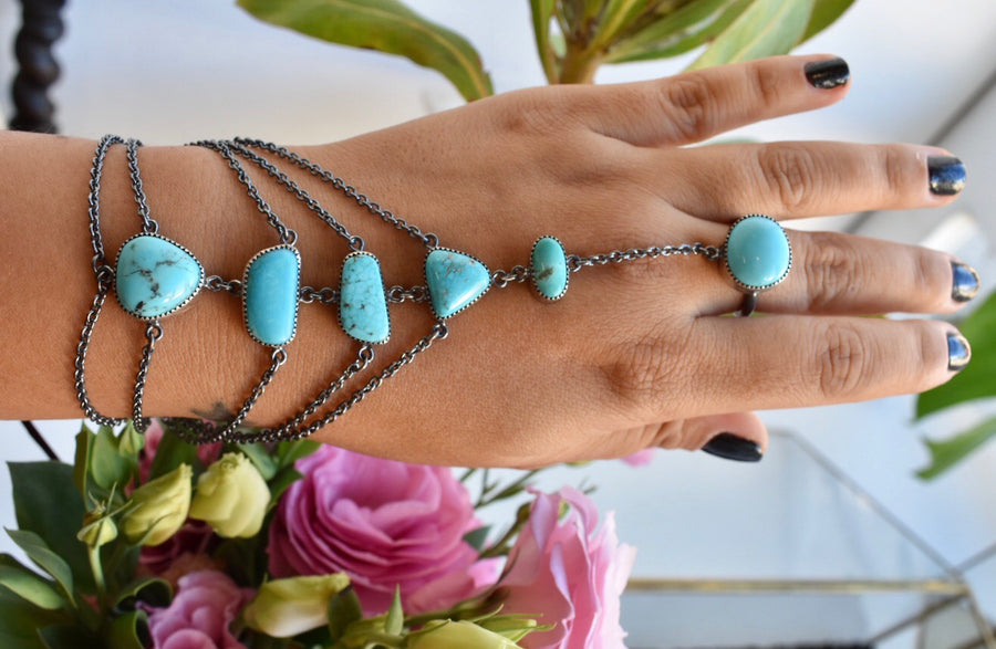 Turquoise Hand Harness
