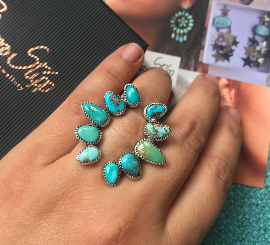 Open Arms Turquoise Ring