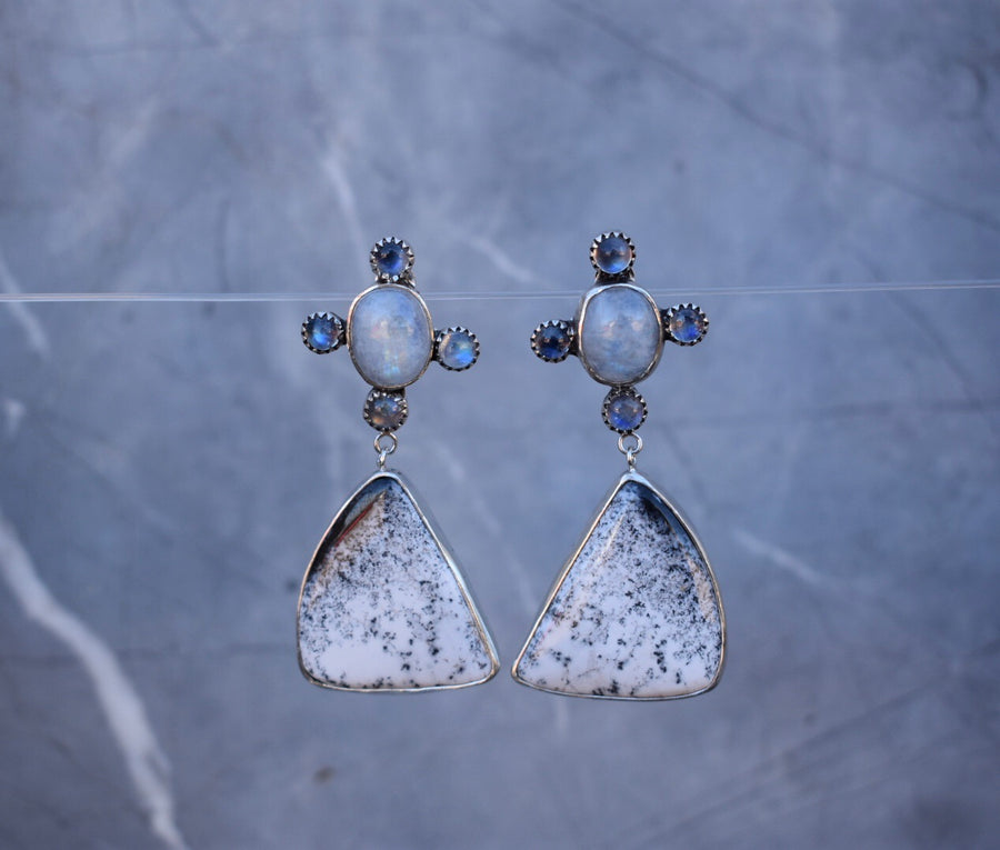 Dendritic Moonlover Earrings