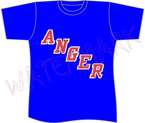 ANGER!!!! https://www.mondomonsterwear.com/products/anger Don't need revenge or vengeance, show off your true feelings with this great shirt that parodies a hockey jersey. Rangers. shirt