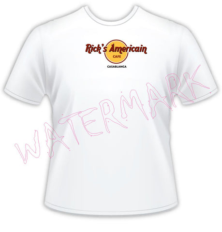 Casablanca: Rick's Cafe Americain https://www.mondomonsterwear.com/products/casablanca-ricks-americain One of the most perfect movies, round up the usual suspects. Casablanca. Morocco. Humphrey Bogart. Ingrid Bergman. Cafe. Play it Again Sam. Rick's. Shirt