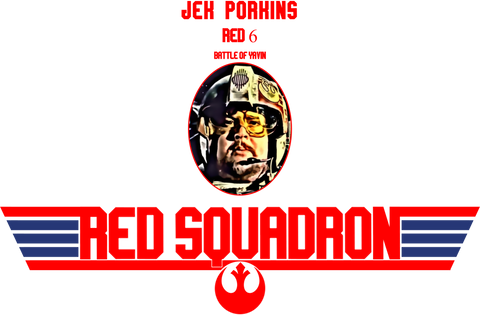 Star Wars: Red Squadron Porkins https://www.mondomonsterwear.com/products/star-wars-red-squadron-porkins Star Wars. Red Squadron. Porkins. Death Star. Battle of Yavin. A New Hope. Red 6. Top Gun. Maverick. Tom Cruise. Mongoose. Goose. Shirt