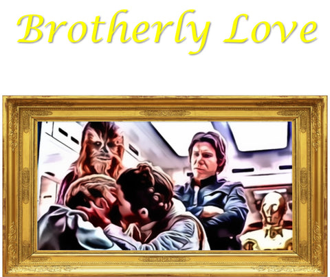 Star Wars: Brotherly Love https://www.mondomonsterwear.com/products/star-wars-brotherly-love Star Wars. Kiss. Luke. Leia. Skywalker. Brother. Sister. Shirt. T Shirt.