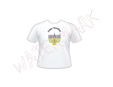 Hanukkah Menorah - All 8 Candle Shirts