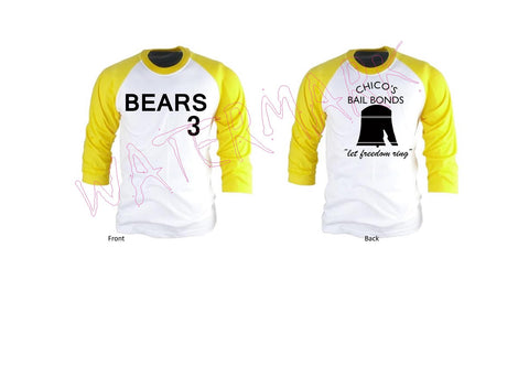 Bad News Bears Jersey https://www.mondomonsterwear.com/products/bad-news-bears-jersey Baseball. Bad News Bears. Walter Matthau. Billy Bob Thornton. Chico's Bail Bonds. Tatum O'Neal. Buttermaker. Kelly Leak. Regi Tower. Toby Whitewood. Timmy Lupus. Mike Engleberg. Jose Aguilar. Miguel. Jimmy Feldman. Alfred Ogilvie. Rudi Stein. Amanda Whulizer. Tanner Boyle. Ahmad Abdul-Rahim. Kentucky Fried Chicken. lit...