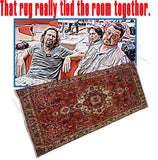 Big Lebowski: The Rug https://www.mondomonsterwear.com/products/big-lebowski-the-rug Bowling. Shabbat. Revenge. Rug. White Russians. The Dude. The Big Lebowski. Coen Brothers. John Goodman. Jeff Bridges. Steve Buscemi. Julianne Moore. shirt