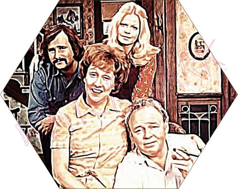 All In The Family: Portrait https://www.mondomonsterwear.com/products/all-in-the-family-portrait All in the family. archie bunker. edith. gloria. michael. meathead. dingbat. queens. bigot. archie bunker's place. bar. Shir
