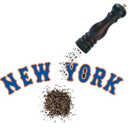 Mets: Salt and Pepper https://www.mondomonsterwear.com/products/mets-salt-and-pepper National League. Metropolitans. New York Mets, World Series, Baseball. Shirt. wright. shea stadium. citifield. salt. pepper. sprinkle. offense. Todd Frazier. Cespedes. Jay Bruce. Queens. Flushing.